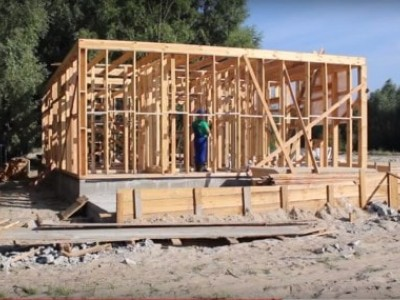 The process of building a frame house EuroHouse