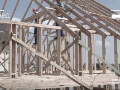 The process of building a frame house