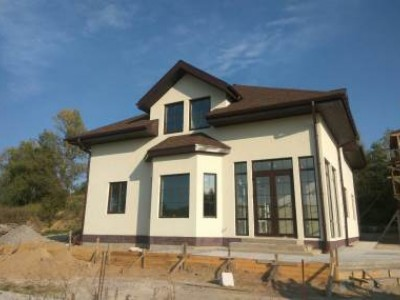 The course of building a house near Kiev with an area of 260m2